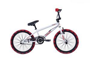 20' 20 ZOLL BMX Freestyle Kinderfahrrad Kinder Jungen Jugend Mädchen Fahrrad Bike Rad 360 ROTOR Pegs ROCK WEISS