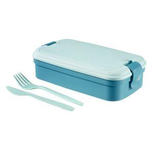 Curver Lunchbox 5-teilig, 23,5x13,5x6,3cm, Lunch & Go, Brotdose, Brotbox, Vesperdose Blau
