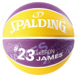 SPALDING NBA Player LeBron James Basketball Gr.5 lila/gelb