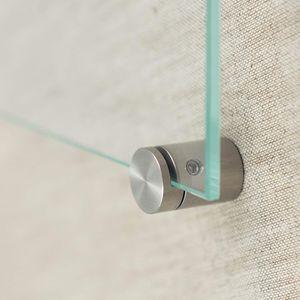 Glasklemme, 4er Set Klemmbefestigung Edelstahl für Plattenstärke 4 mm