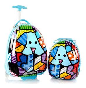 Heys Kinder Trolley + Rucksack 2er Set Dog Hund Blau Bunt Koffer Bowatex