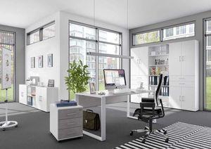 Schreibtisch direct 150 cm Nachbildung Beton mit Kufenfuß