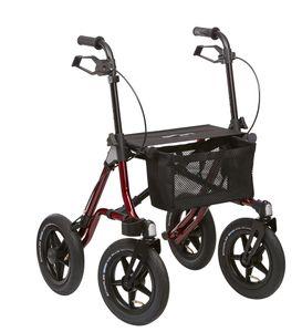 Leichtgewicht-Gelände-Outdoor-Rollator Dietz Taima XC, luftbereift mit Stockhalter und Tasche