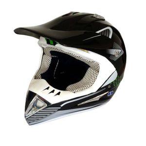 Crosshelm MotoX schwarz-grün Größen: XL Endurohelm Motocrosshelm Helm