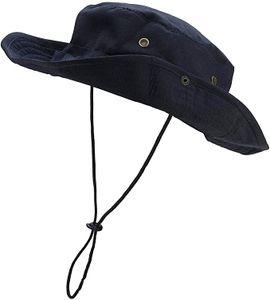 Outdoor Hut Buschhut Boonie Hat mit Kinnband Fischermütze Sonnenhut Sommerhut für Herren Damen