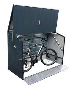 TRIMETALS-Fahrradbox anthrazit-mit klappbarer Einfahrtsrampe-7170