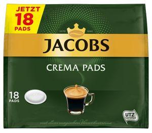 Jacobs Crema Pads | 18 Senseo kompatible Kaffeepads 118 g