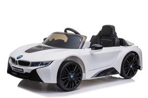 BMW Lizenz Kinder Elektro Auto BMW i8 2x35W Weiß