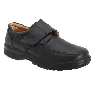 Smart Uns Herren Schuhe mit Klettverschluss DF752 (43 EUR) (Schwarz)