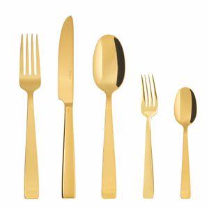 Sambonet Flat Edelstahl/PVD Gold Besteck 30tlg.Vh. S0015-S00017-62712GN1