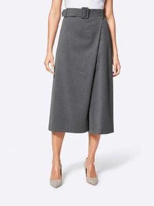 CRéATION L Damen Hosenrock mit Gürtel, grau-melange, Größe:50