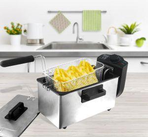 Edelstahl Fritteuse 3 L Kaltzonen Friteuse Öl Fryer Semi-Professionel BPA-frei