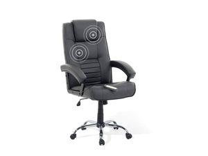 Bürostuhl schwarz Leder Massagefunktion Heizfunktion COMFORT