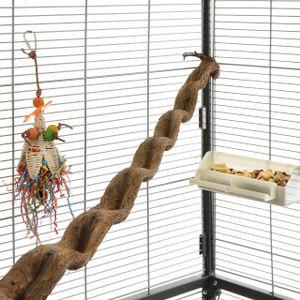 Klettersitzstange Liane 90-100cm für Papageien /  2,5-5cm breit