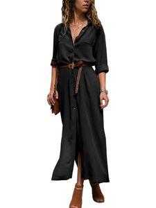 Lässiges Sommer-T-Shirt-Oberteil für Damen im Maxikleid,Farbe: schwarz,Größe:M