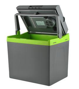 Kühlbox Grau 12V/220V Kühlen + Heizen Bequemer Griff Gewicht 4kg 28L/30L Lange Kabel 7845, Größe:28 L