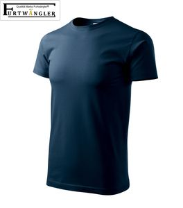 T-Shirt Marineblau 4XL Herrenshirt Furtwängler Basic 160g/m² verstärkte Schulterpartie