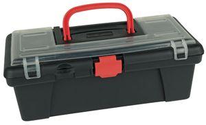 BRÜDER MANNESMANN Werkzeugbox mit Griff schwarz / rot