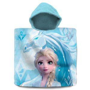 Kids Licensing badeponcho Frozen 2 Baumwolle 60 x 120 cm blau/weiß