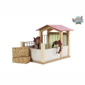 Kids Globe Holz Pferdestall Stall Pferdkoppel für Mädchen Bauernhof für Schleich