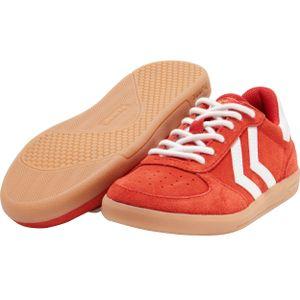 Hummel Jungen Sneaker Victory Suede Jr. Turnschuhe, Farbe Hummel:Rot, Größe:36