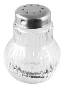 Fackelmann Mini-Streuer RUBIN, Salz- und Pfefferstreuer aus Glas, Gewürzstreuer für einfaches Dosieren (Farbe: Silber/Transparent), Menge: 6 Stück
