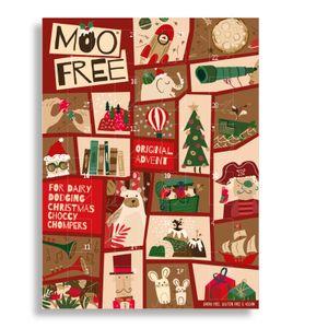 Moo Free Adventskalender mit veganer Schokolade 70g