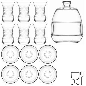 """LAV 13 teiliges Tee-Set mit Zuckerschale """"Serie Inci"""""""