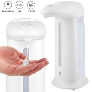 Touchless Hand Desinfektion Seifenspender Infrarot Sensor Automatischer Infrarot Sensor Automatischer Seifenspender Desinfektionsmittelspender Shampoo  weiß