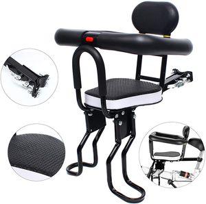Fahrrad Kindersitz Zweipunkt Fahrradvordersitz mit Griff Schutzschiene Pedal für 6 Monate bis 3 Jahre altes Baby