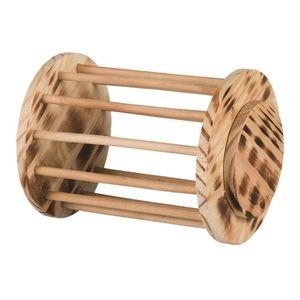 Trixie Heuraufe Rolle aus geflammtem Holz