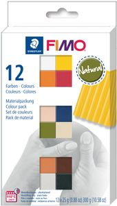 """FIMO SOFT Modelliermasse-Set """"Natural"""" 12er Set 12 Blöcke à 25 g"""