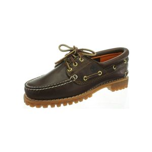 TIMBERLAND Echtleder Bootsschuhe 3 Eye Classic Lug Damen Braun Schuhe, Größe:36