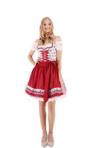 Krüger - Damen Trachten Dirndl in rot, Dirndl Silvana (50 cm)  (46315-9), Größe:38, Farbe:Rot