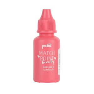 P2 Make-up Teint Rouge Match Point Beauty - blush fluid 833366, Farbe: 020 poppy pink, 17 ml