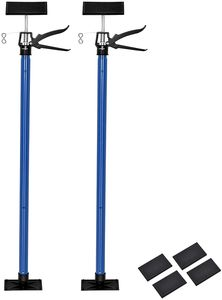 COSTWAY Teleskop Stützstange 115-290cm Höhenverstellbar, Einhandstütze stufenlos, Deckenstütze Tragkraft bis 55kg, Teleskopstütze Stütze Montagestütze schnellspannstütze für Handwerk