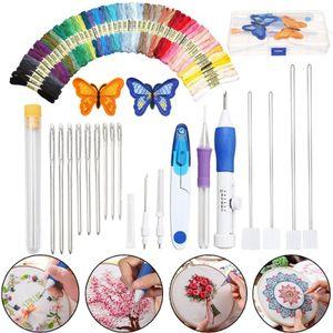 Magie DIY Stickerei Stift Stricken Nähen Werkzeug Kit Punch Nadel Set mit 50 Themen Kunststoff + Stahl Hause Dekoration Ornamente