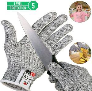 Schnittsichere Handschuhe für Kinder – Leistungsfähiger Level 5 Schutz, lebensmittelecht, Geeignet für 8-12 Jährige(L)