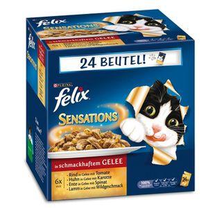 Felix -  Sensations mit Fleisch in Gelee, Fleisch Mix, 24 x 100g