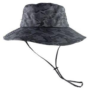 UPF 50+ Sonnenhut Bucket Sommer Sonne UV-Schutz Lang Large Wide Brim Strand Cap -(Grau,)