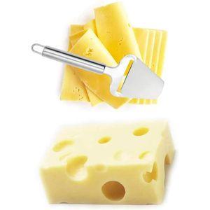 Käsehobel Edelstahl mit scharfer Klinge 5cm – Käseschneider modernes Design mit Öse zur Aufbewahrung an einer Hängeleiste – für alle Käseliebhaber unverzichtbar