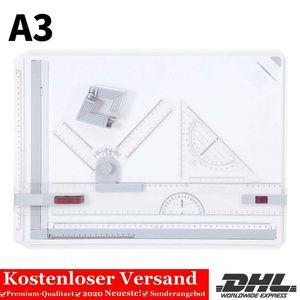 Profi Zeichenplatte A3 Zeichenbrett mit Lineal Reißbrett Zeichentisch