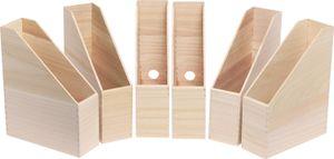 VBS Holz-Stehsammler, 6 Stück, ca. 25x9x32cm