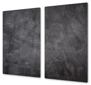 Spritzschutz Herdabdeckplatte Schneidebrett aus Glas Dunkle schattierte Wand, Anzahl Teile:2-Teilig