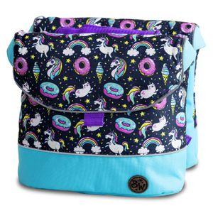 BAMBINIWELT Gepäcktasche, Gepäckträgertasche für Fahrrad, Fahrradtasche für Kinder, wasserabweisend, Modell 24