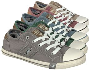 MUSTANG Damen Low Sneaker Grau Schuhe, Größe:39