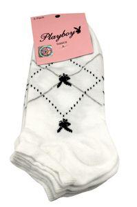 Playboy 12 Paar Sneaker Socken Damen Herren 35-38 Weiss Bunt bei Bowatex