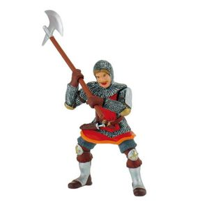 Bullyland 80788 - Figurine World, Ritter, Axtkämpfer, rot, 8 cm 4007176807880