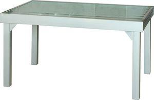 ib style® DIPLOMAT Ausziehtisch 135- 270 cm Gartentisch Glastisch Gartenmöbel Gestell:Aluminium Tischplatte: Glas SILBERMATT