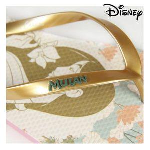 Flip Flops fŸr Frauen Prinzessinnen Disney Mulan Beige Golden Fu§grš§e 37